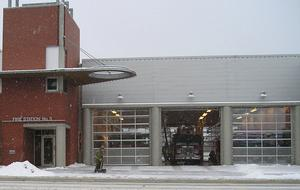 Fire station No. 5 on East Hastings St., Burnaby, British Columbia