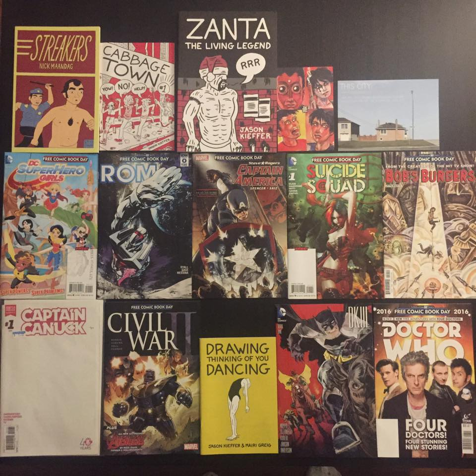Comics collected during Free Comic Book Day in Toronto